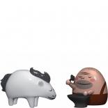 Alessi Weihnachtsfiguren Trotto und Ernesto