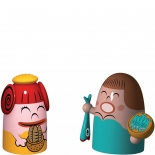 Alessi Weihnachtsfiguren Pina Farina und Fiona Fish