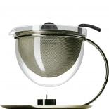Mono Teekanne filio Edition 125 versilbert mit Stövchen 1,5 Liter