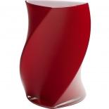 Piet Hein Vase Twister Opal Glas 24 cm - rot
