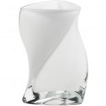 Piet Hein Vase Twister Opal Glas wei� 24 cm