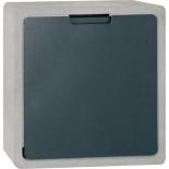 Serafini Briefkasten Concret CQ - steingrau, schwarz