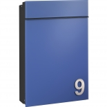 Serafini Briefkasten Flat Glas - blau