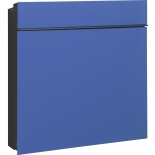 Serafini Briefkasten Flat Wide Glas - blau