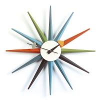 vitra wanduhr sunburst mehrfarbig exquisit24. Black Bedroom Furniture Sets. Home Design Ideas