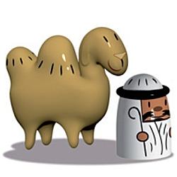 Alessi Weihnachtsfigur Kamel Amir und Camelus