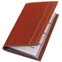 El Casco Visitenkarten-Buch - Leder cognac