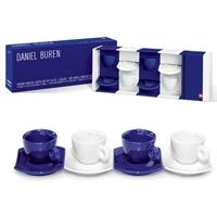 Illy Espresso Tassen Set Daniel Buren Bianco Blue