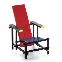 Vitra Miniatur Stuhl Rot Blau - Rietveld