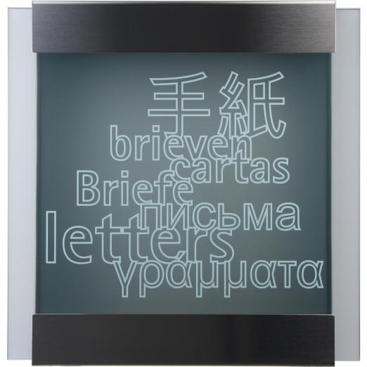 Keilbach Briefkasten glass letters