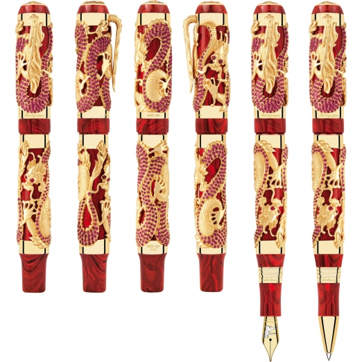 Montegrappa Füller Icons Dragon Bruce Lee Gold mit Rubin