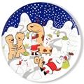 Alessi Weihnachtsteller The Hug Plate