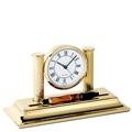 El Casco Schreibtisch Uhr - vergoldet