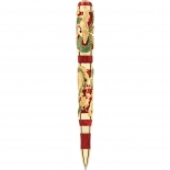 Montegrappa Rollerball Icons Dragon Bruce Lee Gold mit Smaragden